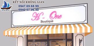 thiết kế shop thời trang H-One