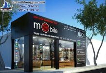 thiết kế shop điện thoại di động