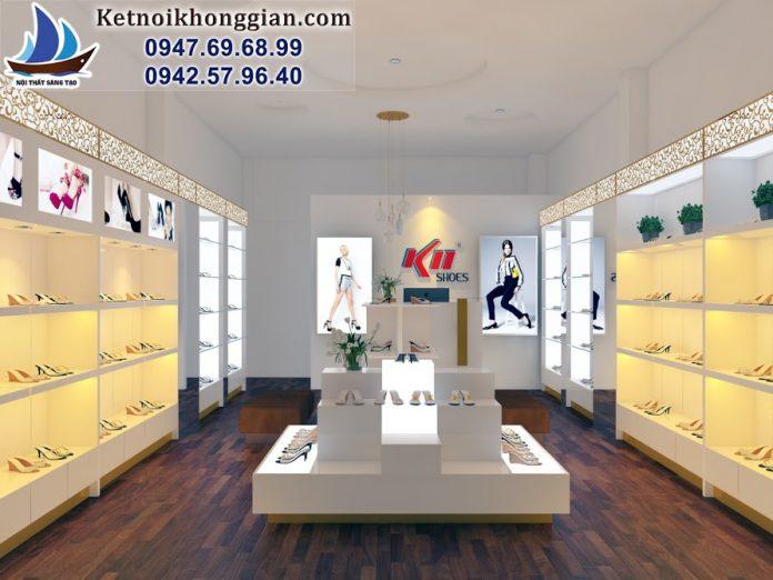 thiết kế shop giày diện tích nhỏ
