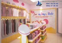 thiết kế shop mẹ và bé