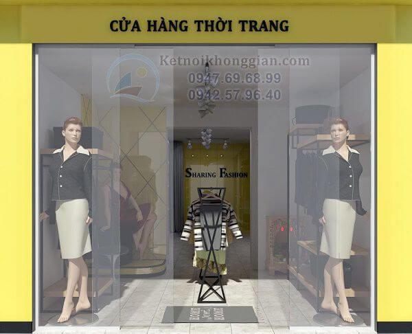 Thiết kế shop quần áo thời trang nữ 42m2