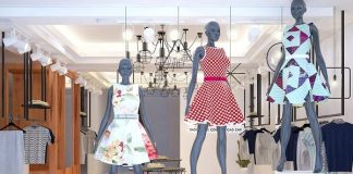thiết kế shop thời trang công sở