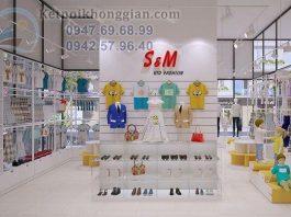 Thiết kế shop thời trang mẹ và bé 52m2