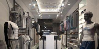 Thiết kế shop thời trang nam 18m2