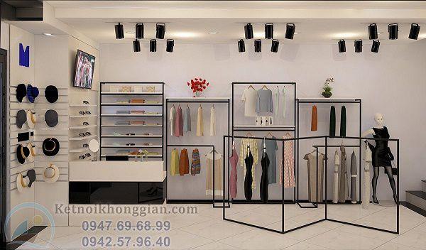 Thiết kế shop thời trang nữ 60m2