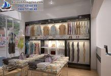 thiết kế cửa hàng thời trang giá rẻ tại hòa bình