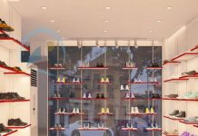 Thiết kế shop giày dép giá rẻ