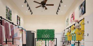 Thiết kế shop thời trang nữ diện tích nhỏ