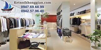 thiết kế cửa hàng quần áo thời trang nam