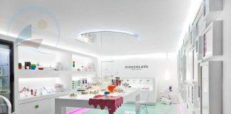 Thiết kế cửa hàng socola cao cấp